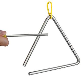 TRIXES Musical triangel stål skola barn slagverk instrumenterar med...