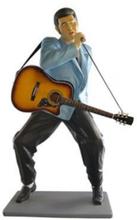 The king med mick och gitarr 161 cm