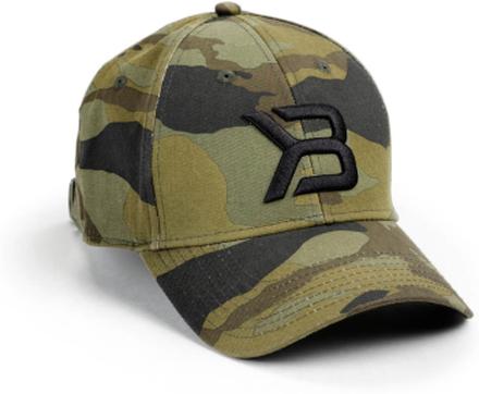 Better Bodies BB Baseball Cap, green camoprint, Better Bodies Kepsar unisex