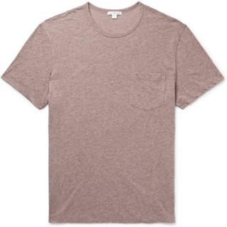 Mélange Cotton-blend Jersey T-shirt - Pink