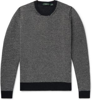 Striped Wool Sweater - Gray