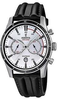 Festina Festina Mens Chrono med svart läderrem F16874/1 Watch