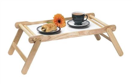 Træ seng serveringsbakke