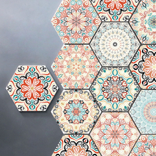 3D Wandaufkleber 10Pcs / Set Selbstklebende Keramikfliesen DIY Badezimmer Küche Wandboden Aufkleber