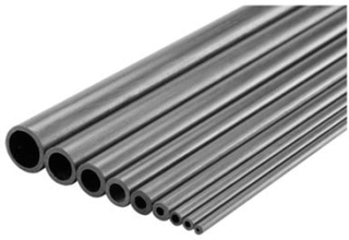 Karbon Rør (Ø x L) 10 mm x 1000 mm Indvendig diameter: 8 mm 1 stk