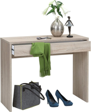 FMD Skrivebord med bred skuff 100x40x80 cm eik
