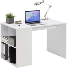 FMD Skrivbord med sidohyllor 117x72,9x73,5 cm vit