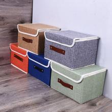 Cotton Linen Books Diverses Verdickungs-Aufbewahrungsbox Collapsible Clothing Organizer