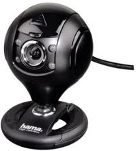 "Hama ""Spy Protect"" HD Webcam - Nettkamera - farge - 1,3 MP - 1280 x 720 - lyd - USB 2.0"
