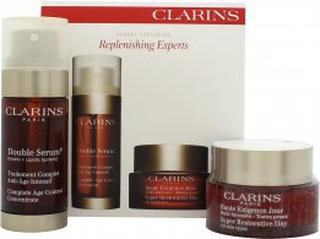 Clarins Replenishing Experts Presentset 50ml Super Restorative Day Cream + 30ml Double Serum Age Control