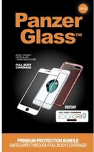 Apple iPhone 7/8 - White w/ EdgeGrip (Premium Glass)