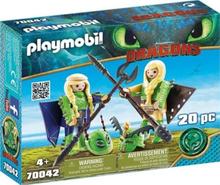 Playmobil Dragons 70042, Multifärg, Playmobil, 4 År, Pojke/flicka, Tecknad film, 2 styck