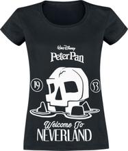Peter Pan - Welcome To Neverland -T-skjorte - svart
