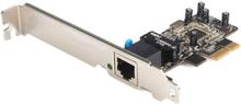 PCI Express 10/100 Ethernet nätverksgränssnitt kortadapter med 1 port