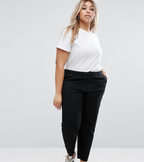 ASOS DESIGN Curve chino trousers - Black