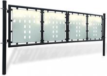 Sort Dobbel Dør Gateport 300 x 150 cm