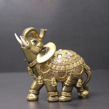 Elegante Elefant Figur Trunk up Elefant Statue Handwerk Ornamente Home Office Desktop Decor Geschenk