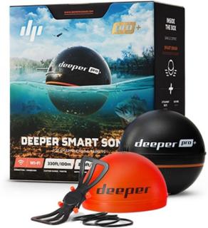 Deeper Smart Sonar Pro+, pakke med nattdeksel og mobilholder