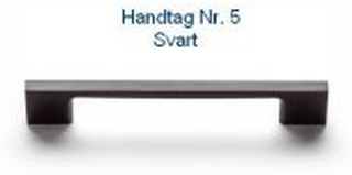 Svedbergs Handtag Nr 2 - 5 128 Svart Svedbergs handtag Nr 5
