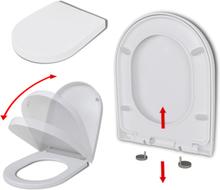 vidaXL WC-istuin pikakiinnityksellä soft-close neliö valkoinen