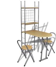 vidaXL Sammenfoldeligt morgenmads barsæt med 2 stole
