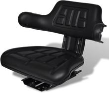 vidaXL Traktorsits med ryggstöd svart