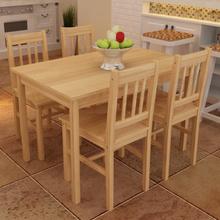 vidaXL Matbord med 4 stolar Naturträ