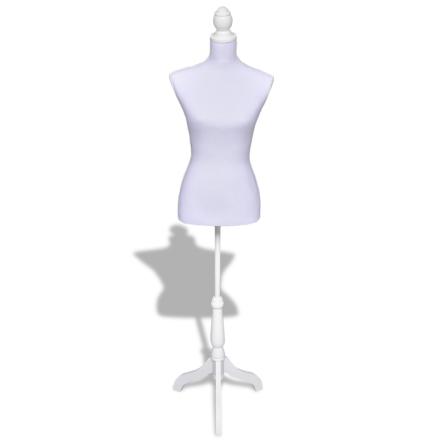 vidaXL Mallinukke naisen torso valkoinen