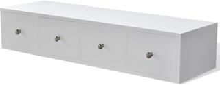vidaXL Hylla med fyra lådor trä vit