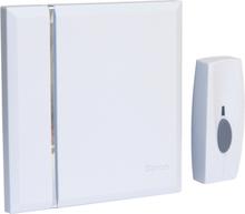 Byron Trådlös dörrklocka med 4 ljudsignaler vit