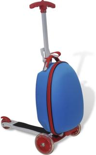 vidaXL Sparkesykkel med koffert for barn blå