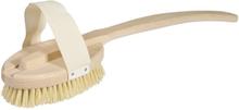 Rygg- & Badborste i trä med tampicoborst