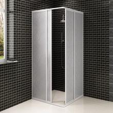 vidaXL brusekabine PP-plade aluminiumsstel rektangulær 80 x 80 cm