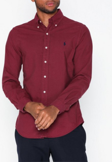 Polo Ralph Lauren Oxford Sport Shirt Skjorter Aubergine