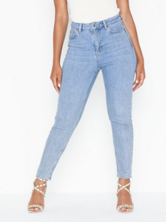 Topshop Bleach Premium Mom Jeans Straight fit