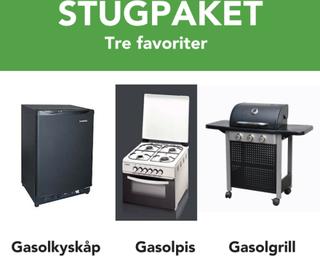 Stugpaket: gasolspis, gasolkylskåp och gasolgrill