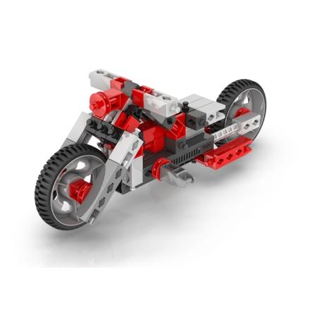 Byggeklodser, 12-i-1, Motorcykel, Rød - Lekmer