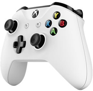 Microsoft Xbox Wireless Controller - Spelkontroll - trådlös - Bluetooth - vit - för PC, Microsoft Xbox One, Microsoft Xbox One S