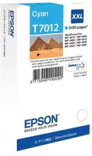 Epson T7012 - XXL-størrelse - cyan - original - blister - blekkpatron - for WorkForce Pro WP-4015 DN, WP-4095 DN, WP-4515 DN, WP-4525 DNF, WP-4595 DN