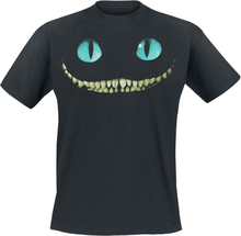 Alice in Wonderland - Filurkaten - Smil -T-skjorte - svart