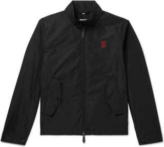 Logo-embroidered Shell Jacket - Black