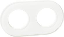 Schneider Renova Täckram glas, vit 2 fack