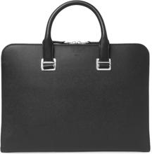 Cadogan Pebble-grain Leather Briefcase - Black