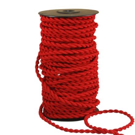 Textilsladd Tvinnad Röd