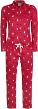 Alice in Wonderland - Cards -Pyjamas - rød