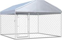 vidaXL Hundkennel med tak för utomhusbruk 200x200x135 cm