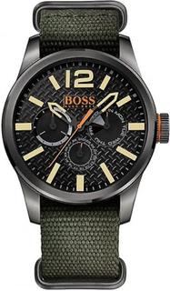Hugo Boss Orange Hugo Boss 1513312 svart & grön Nylon män Chronogra...
