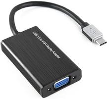 Konverter, VGA til USB type C - Sort