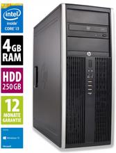 HP Elite 8300 CMT - Core i3-2120 @ 3,3 GHz - 4GB RAM - 250GB HDD - DVD-ROM - Win10Home