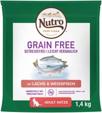 Nutro Kat Grain Free Adult laks og hvidfisk - 1,4 kg